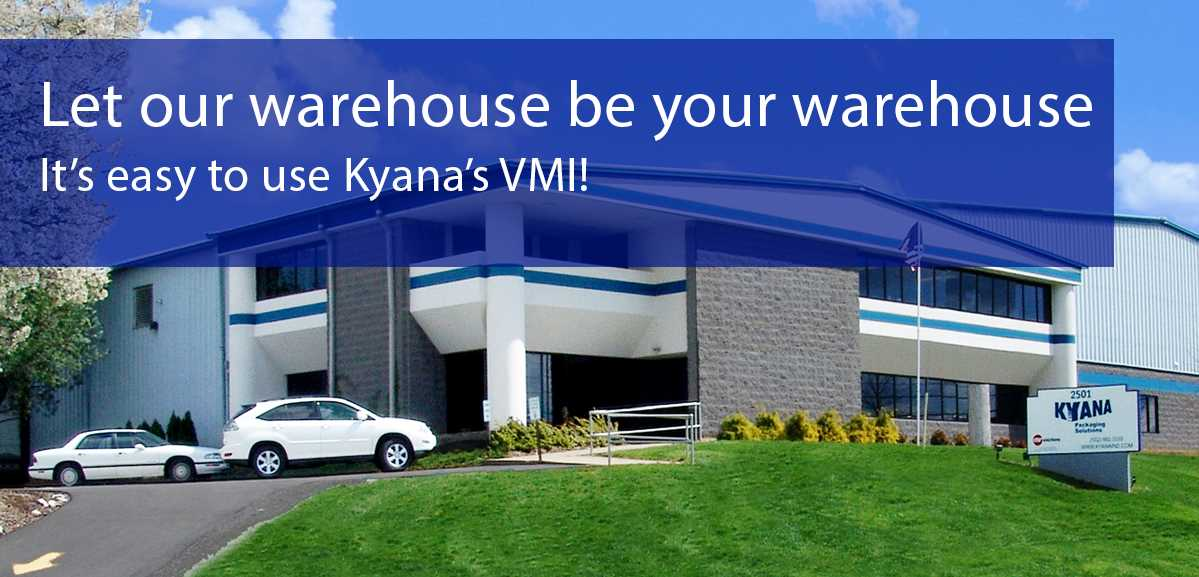 An image showing the exterior of Kyana Packaging Solutions located at 2501 Ampere Drive, Louisville, Kentucky, 40299-3863